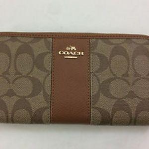 Coach signature Zipper Wallet
